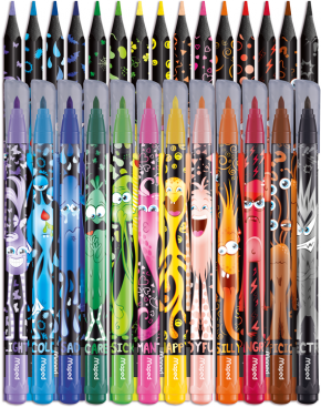 MAPED COLOR'PEPS MONSTER COMBOPACK (12FP+15CP)