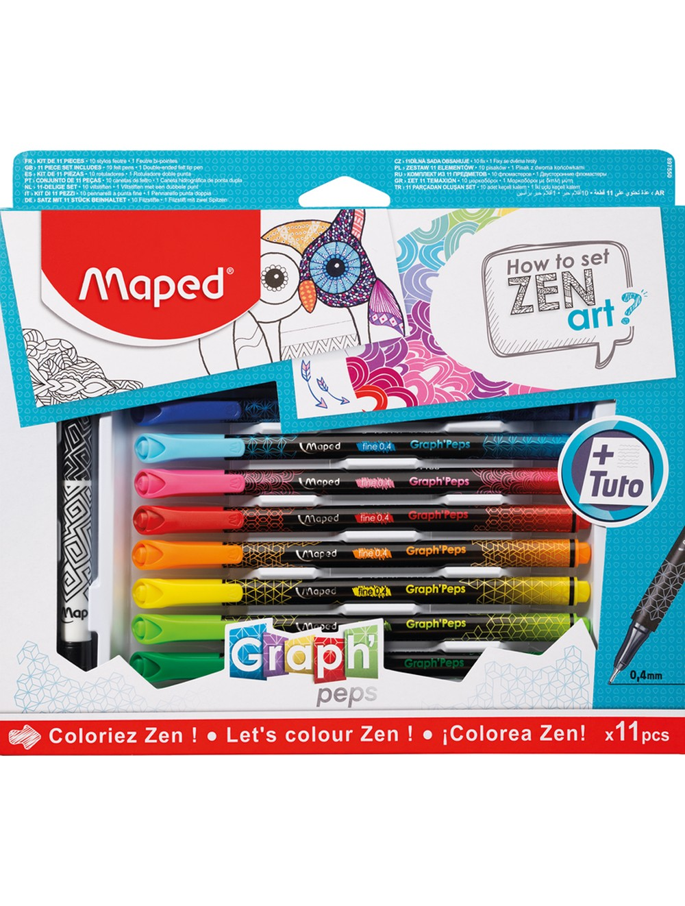 MAPED GRAPH'PEPS ZEN ART SET