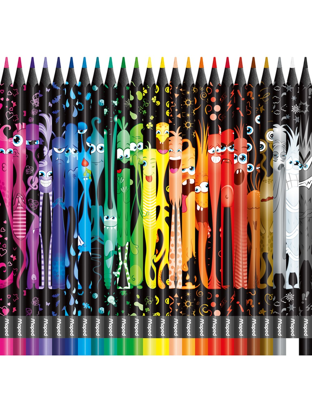 MAPED COLOR'PEPS MONSTER x 24 COLOURED PENCILS