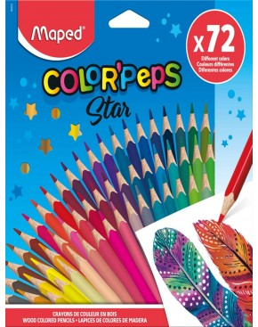 MAPED COLOR PEP'S STAR- BOX OF 72 COLOUR PENCILS