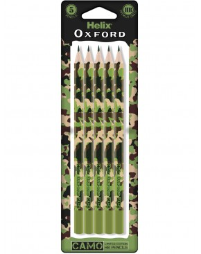 HELIX OXFORD CAMO PENCILS X5