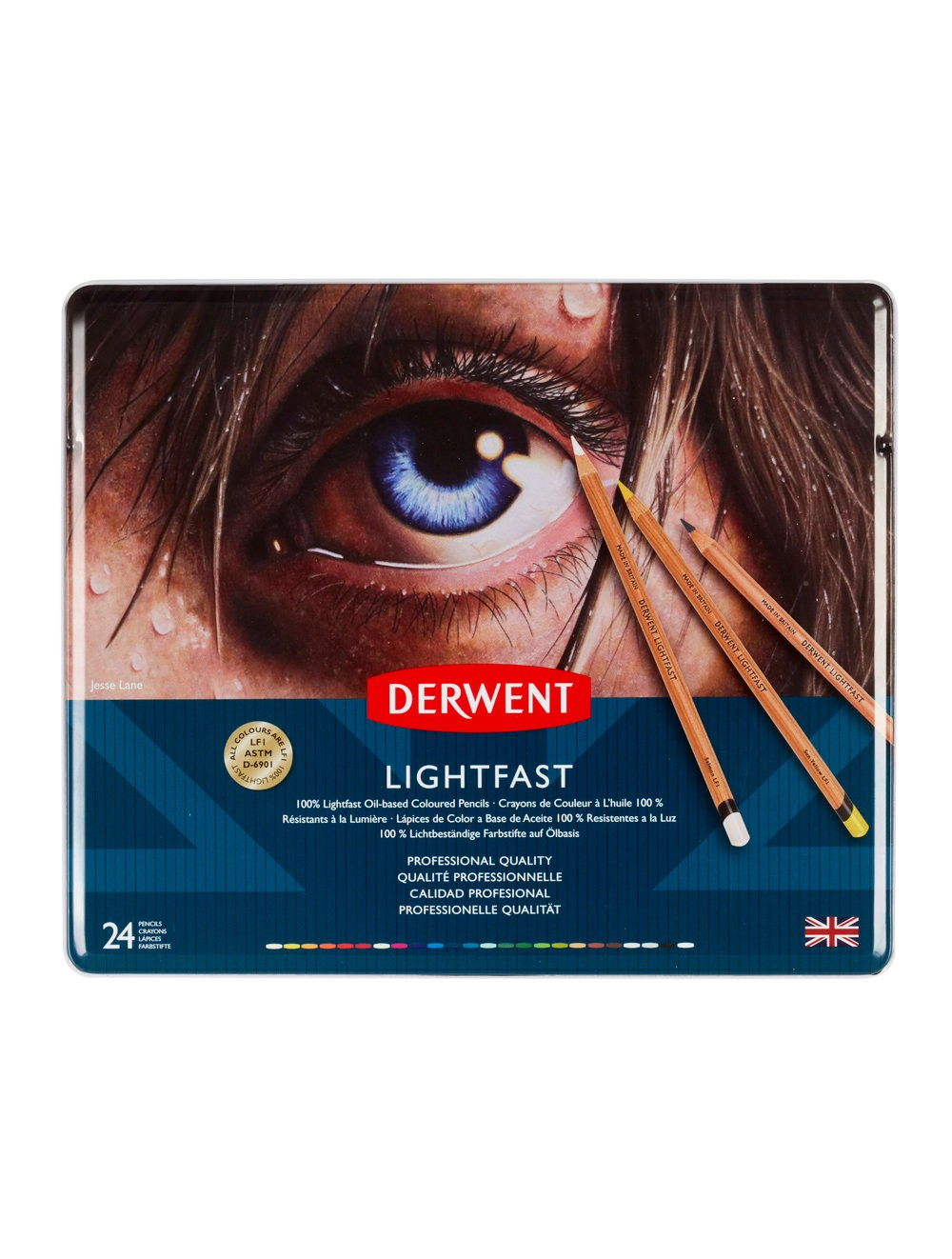 DERWENT LIGHTFAST PENCILS TIN X24