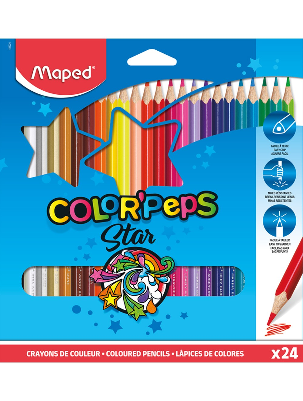 MAPED COLOR'PEPS CLASSIC - BOX OF 24 PENCILS