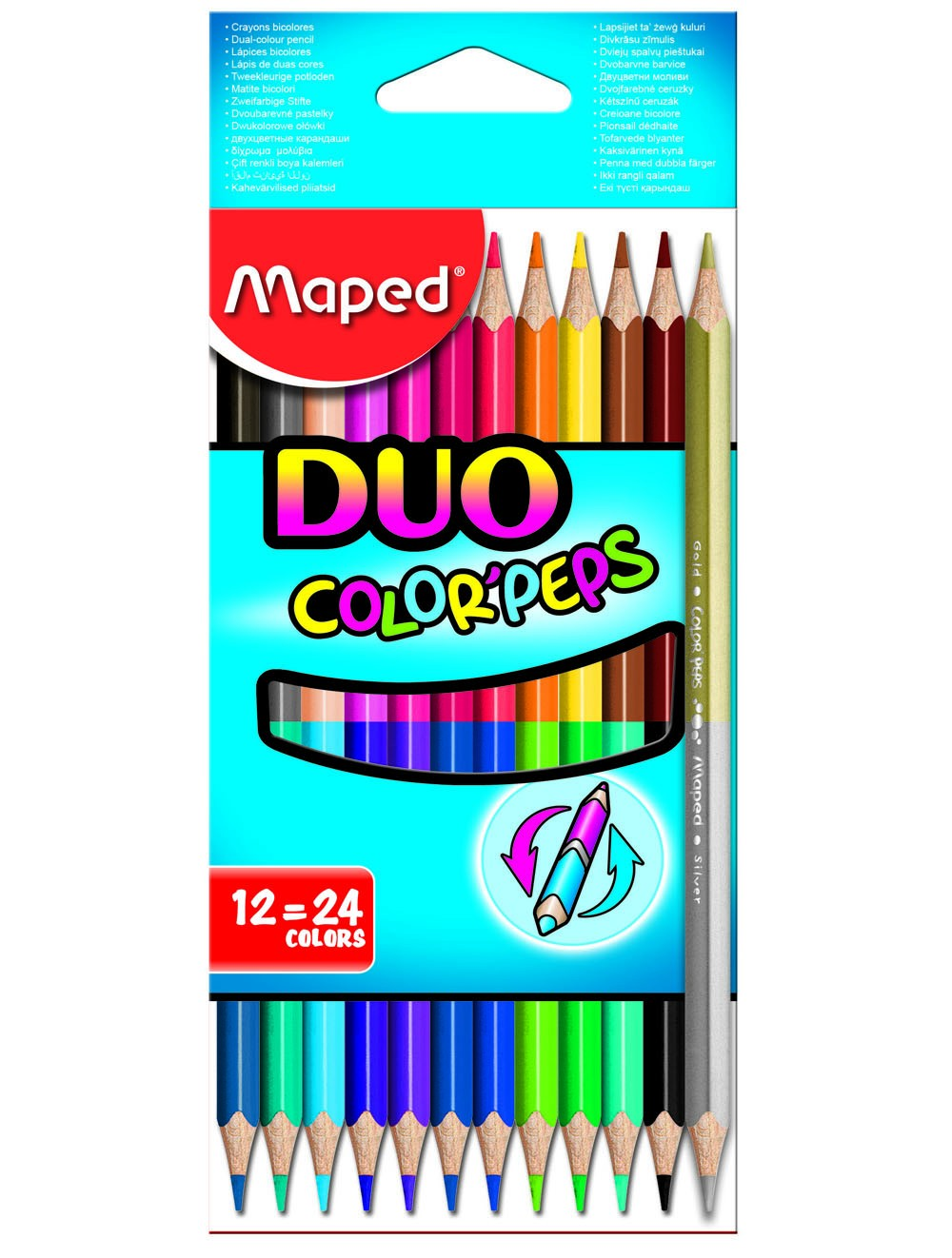 MAPED COLOR'PEPS DUO - 12 COLOUR PENCILS