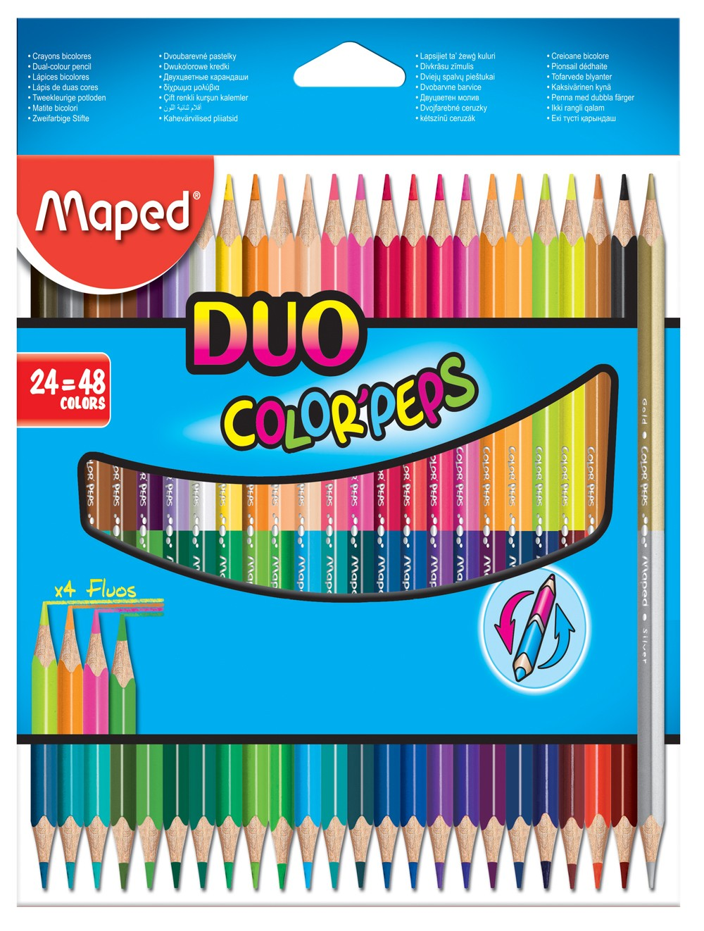 MAPED COLOR'PEPS DUO - BOX 24 COLOUR PENCILS
