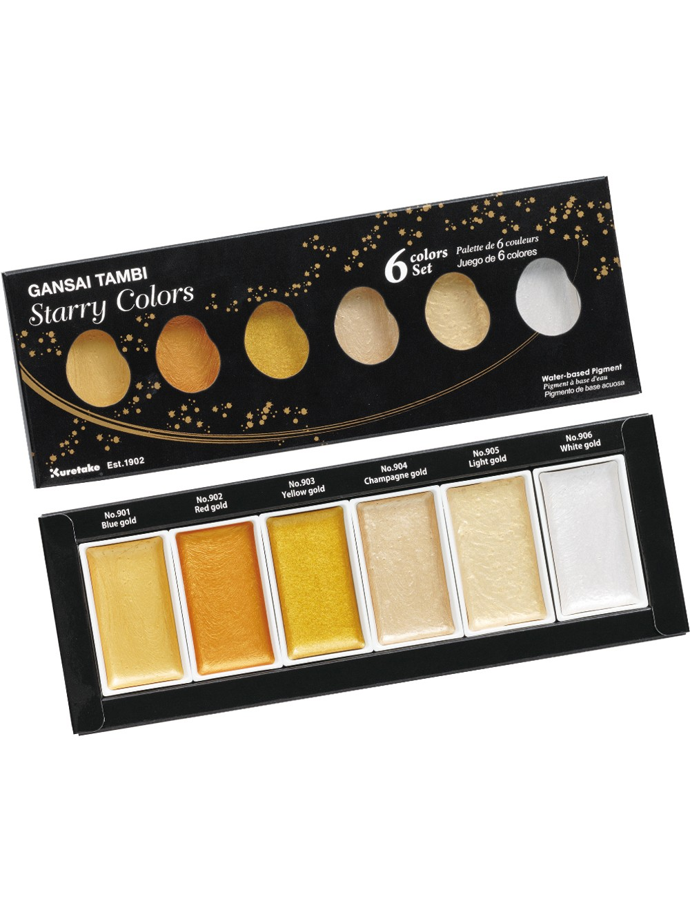 KURETAKE Gansai Tambi 6 Set - Starry Colours