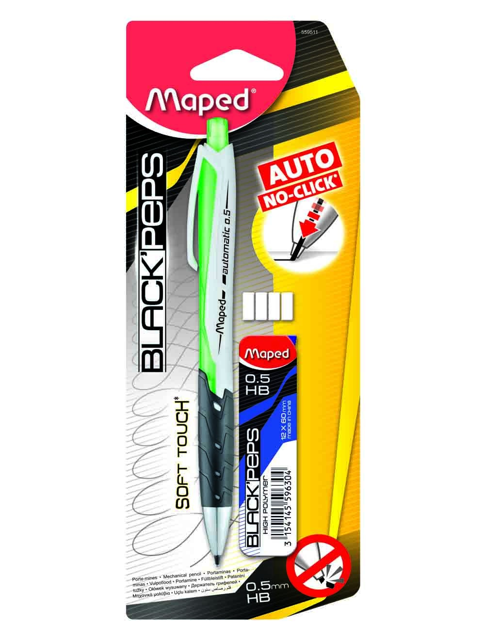 MAPED MECHANICAL PENCIL AUTO 0.5MM +LEAD CASE