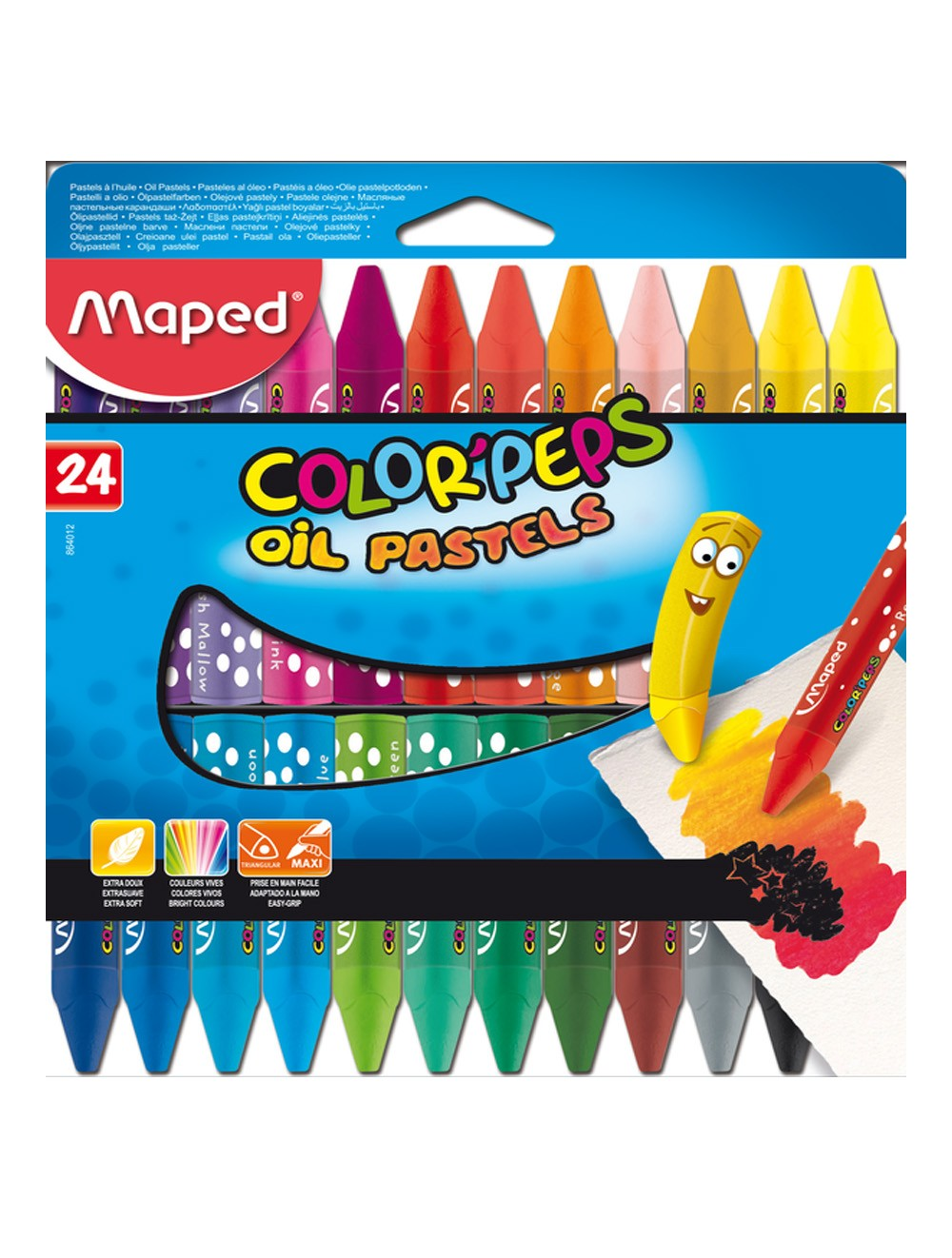 MAPED COLOR'PEPS OIL PASTELS X 24