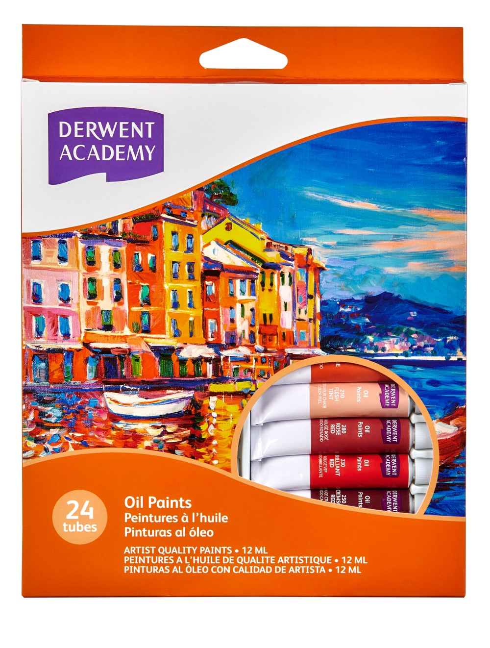 DERWENT ACADEMY OIL PAINT 12 ML 24PK