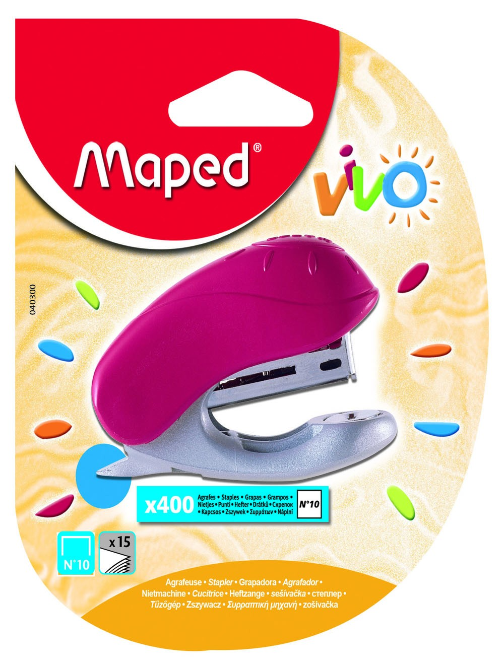 MAPED STAPLER VIVO N°10 + 400 STAPLES