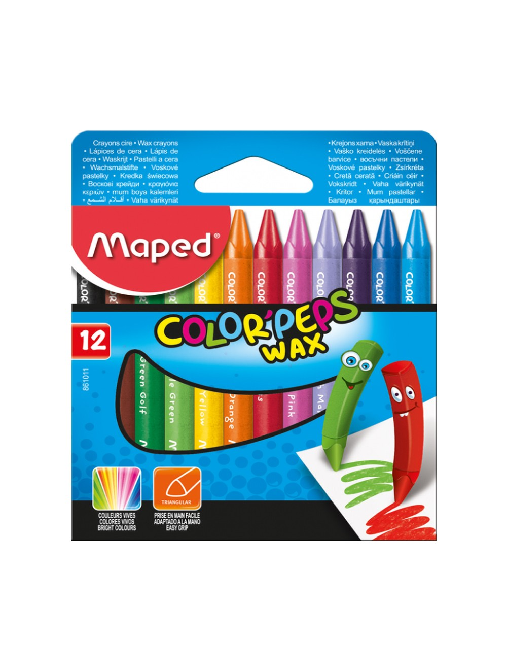 MAPED COLOR'PEPS WAX CRAYON x 12