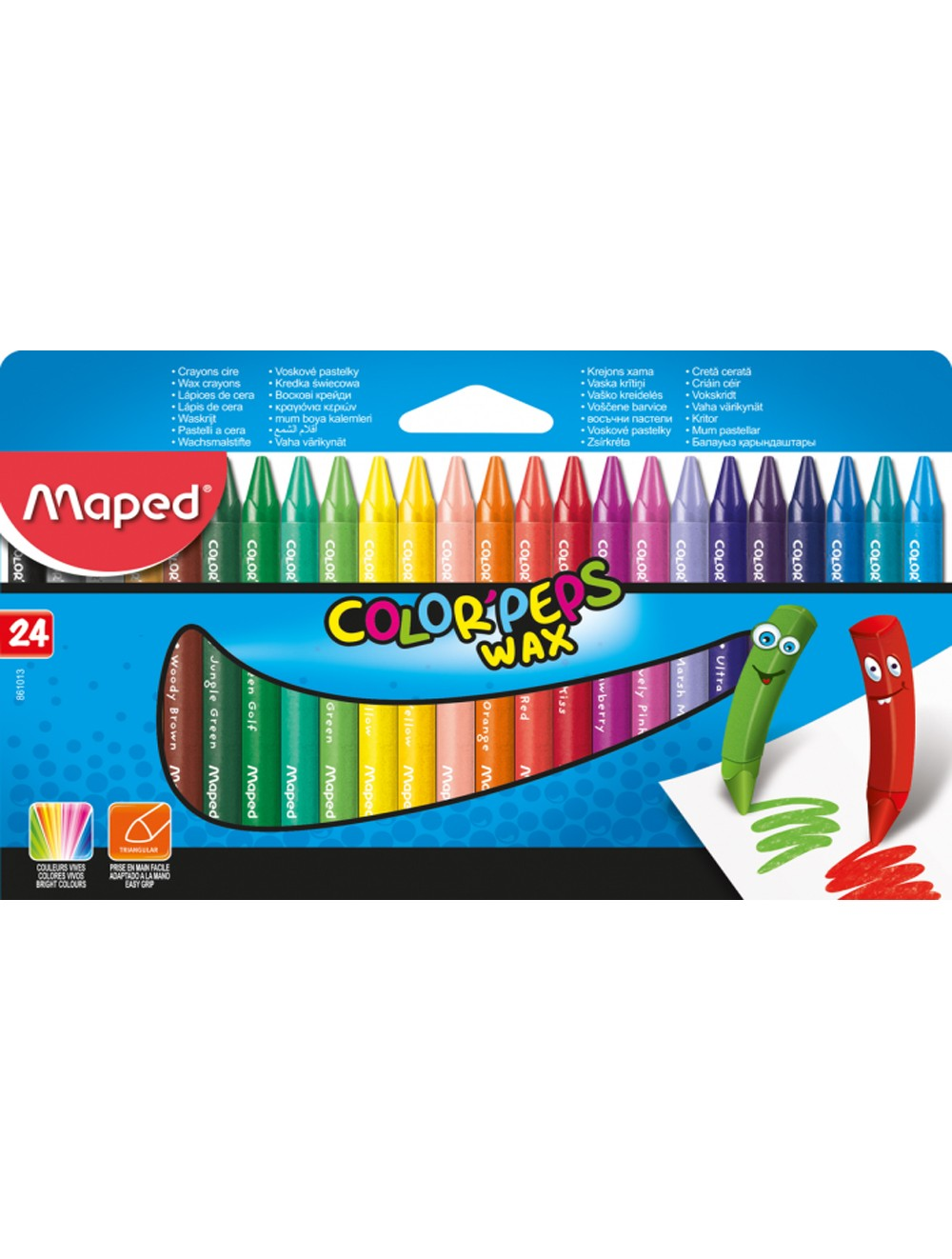 MAPED COLOR'PEPS WAX CRAYON x 24