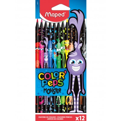MAPED COLOR'PEPS MONSTER x 12 COLOURED PENCILS