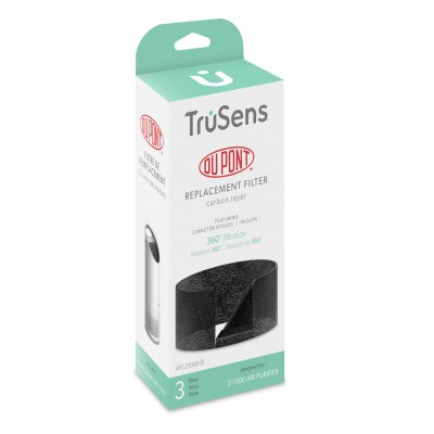 DuPont Carbon Layer Replacement for TruSens Z1000 Air Purifier, 3 Pack